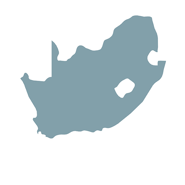 Länderumriss south afrika